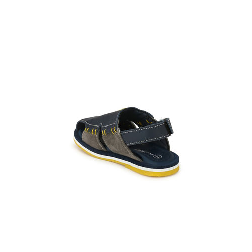 TUSKEY Boys Blue Genuine Leather Comfort Sandals