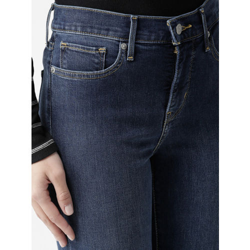 Levis Women Navy Shaping Skinny Fit Mid-Rise Clean Look Stretchable Jeans 311