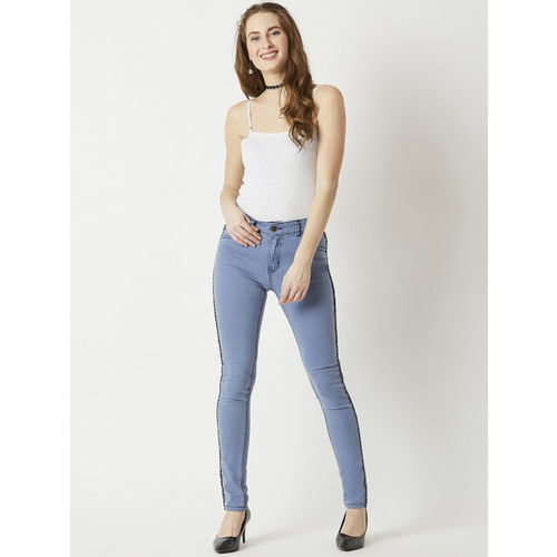 Miss Chase Women Blue Skinny Fit Mid-Rise Clean Look Jeans
