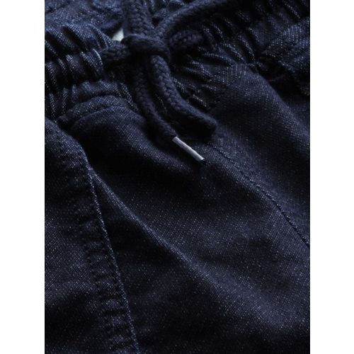 HRX by Hrithik Roshan Women Navy Mid-Rise Clean Look Stretchable Jogger Jeans