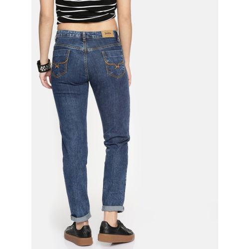 Roadster Blue Denim  Mid-Rise Stretchable Jeans