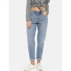 Vero Moda Women Blue Boyfriend Fit Mid-Rise Clean Look Jeans