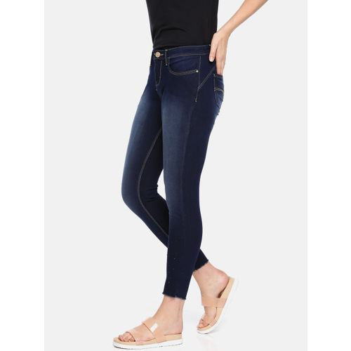 Jealous 21 Women Blue Skinny Fit Mid-Rise Clean Look Stretchable Jeans