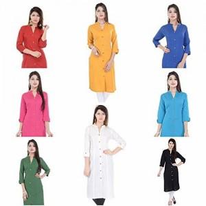 Mystique India Women's Cotton Straight Princess cut kurti Avilable in 8 colours