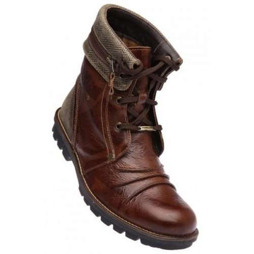 Buy WOODLAND Mens Van Dyke Brown Leather Boot online ...