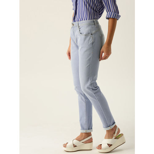 United Colors of Benetton Women Blue Skinny Fit High-Rise Clean Look Stretchable Jeans