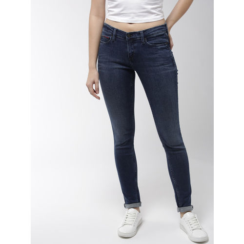 d98f5183 ... Tommy Hilfiger Women Navy Blue Skinny Fit Mid-Rise Clean Look  Stretchable Jeans ...