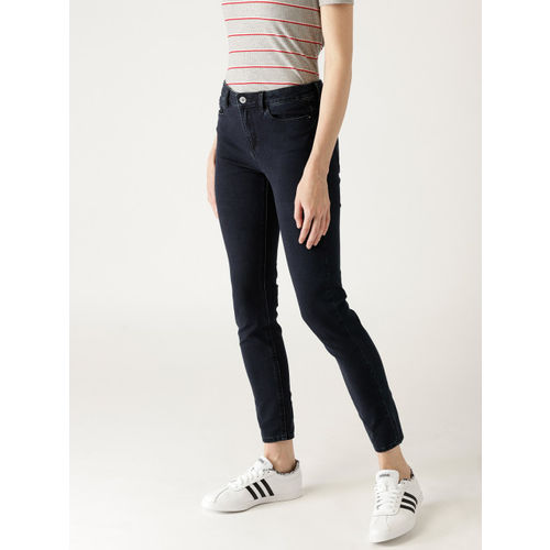 ESPRIT Women Navy Blue Skinny Fit Mid-Rise Clean Look Jeans