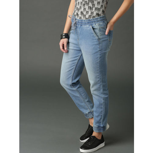 Roadster Women Blue Slim Fit Mid-Rise Clean Look Stretchable Jogger Jeans