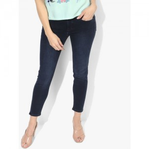 Calvin Klein Jeans Navy Blue Washed Mid Rise Skinny Fit Jeans