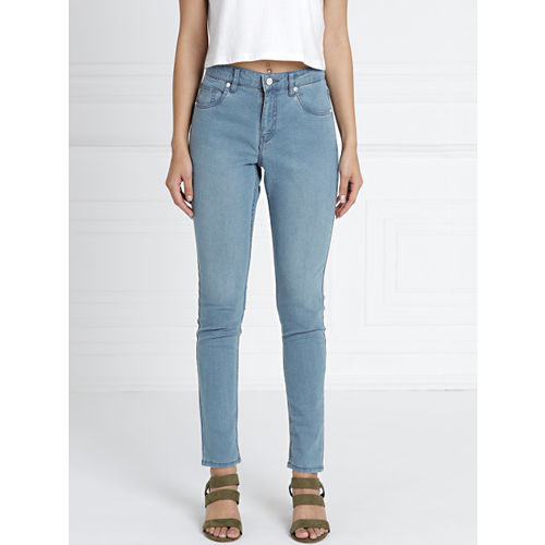 all about you from Deepika Padukone Women Blue Skinny Fit Mid-Rise Clean Look Jeans