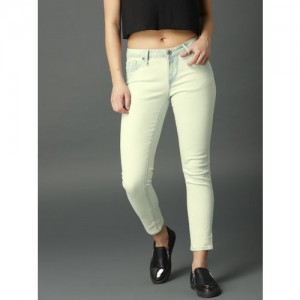 Roadster Blue Skinny Fit Mid-Rise Clean Look Stretchable Jeans