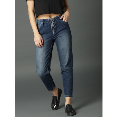 Roadster Women Blue Slim Jogger Fit Mid-Rise Clean Look Stretchable Jeans