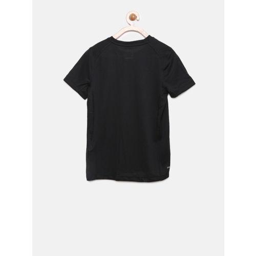 Nike Boys Black Printed Round Neck T-shirt