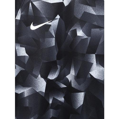 Nike Boys Black & Grey Printed Football T-shirt