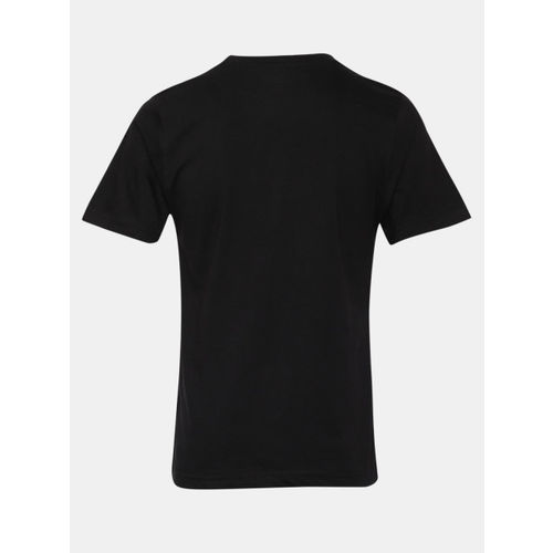YK Justice League Boys Black Printed Round Neck T-shirt