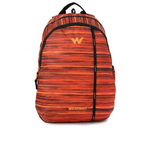 Wildcraft Unisex Orange Printed WC 1 Vistas 1 Backpack