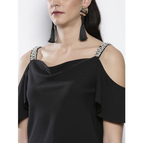 DOROTHY PERKINS Women Black Solid Top