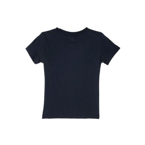 Kids Ville Boys Navy Blue Printed Round Neck T-shirt