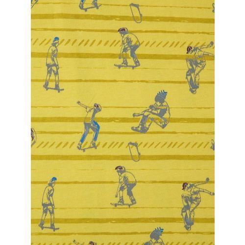 Palm Tree Boys Yellow Printed Round Neck T-shirt