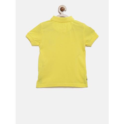 U.S. Polo Assn. Kids Boys Yellow Solid Polo T-shirt