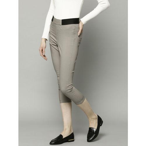 Marks & Spencer Women Grey Solid 3/4TH Jeggings