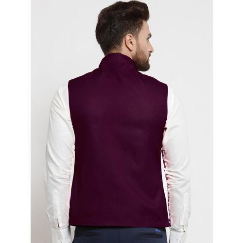 TREEMODA Men Purple Nehru Jacket
