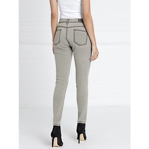 all about you Women Grey Skinny Fit Mid-Rise Clean Look Stretchable Jeans