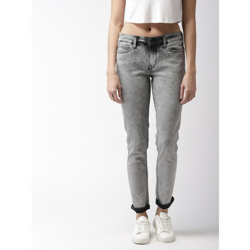 Levis Women Grey Skinny Fit Mid-Rise Jeans 711