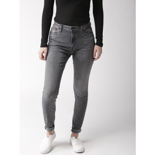 4ed0a5ee ... Tommy Hilfiger Women Grey Santana Skinny Fit High-Rise Clean Look  Stretchable Jeans ...