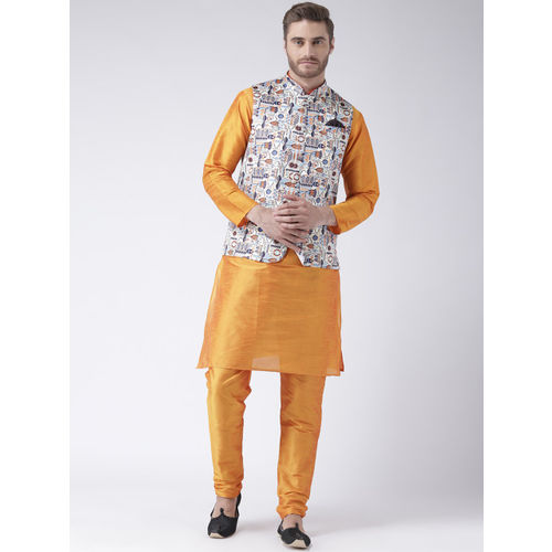 Hangup Men Multicoloured Printed Nehru Jacket