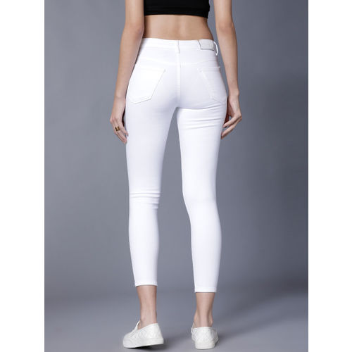 Tokyo Talkies White Denim Stretchable Jeans