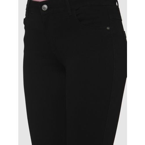 Vero Moda Women Black Skinny Fit Mid-Rise Clean Look Stretchable Cropped Jeans