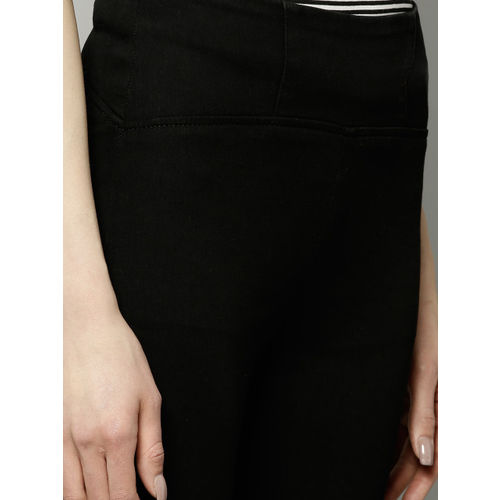 Marks & Spencer Women Black Solid High-Rise Jeggings