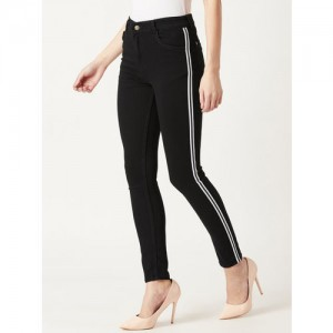 Miss Chase Black Slim Fit Mid-Rise Clean Look Jeans
