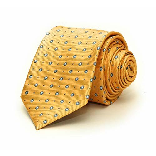 DON GIOVANI Men's Yellow Color Necktie with Pocket Square