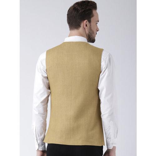 Kisah Beige Bhagalpur Silk Nehru Jacket