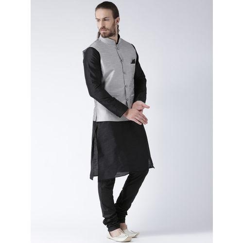 Deyann Men Silver-Toned Nehru Jacket