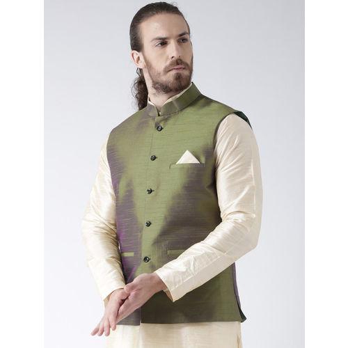 Deyann Men Green Nehru Jacket