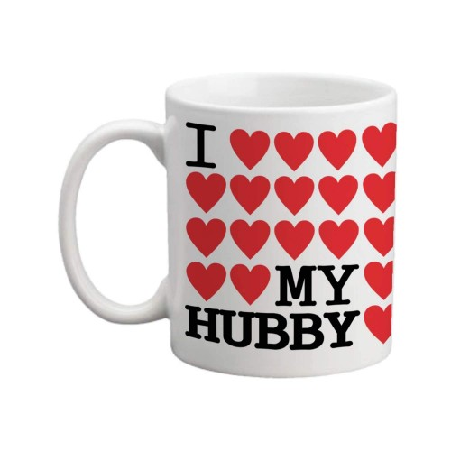YaYa Cafe White Ceramic Printed Coffee Mug Valentines Day Gift