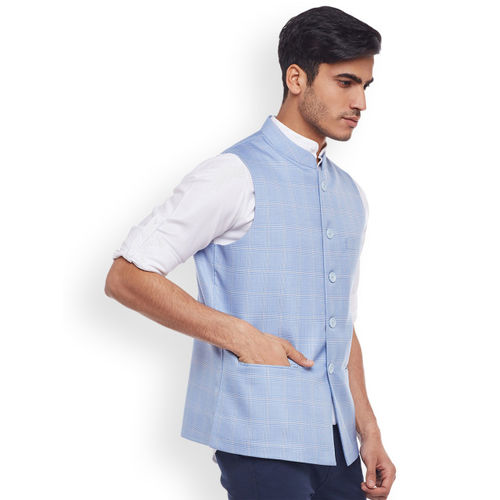 Rodamo Blue Nehru Jacket