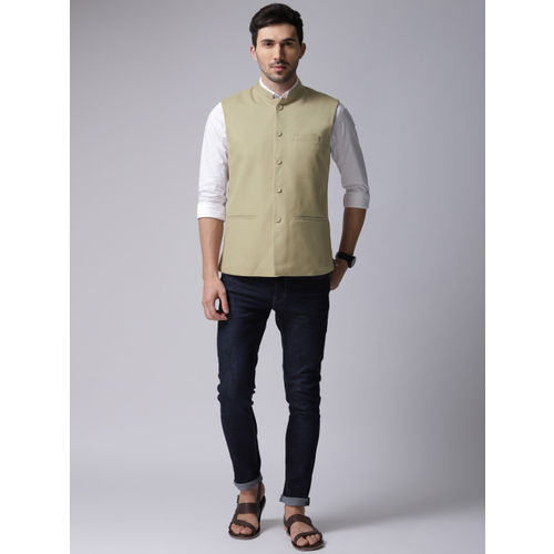 a747f3fc79 Buy True Blue Men Beige Self-Design Nehru Jacket online | Looksgud.in
