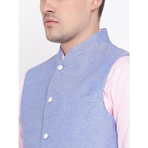 Blackberrys Blue Slim Fit Nehru Jacket