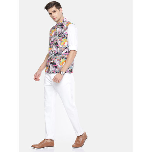 TOZZI Men Multicoloured Printed Nehru Jacket