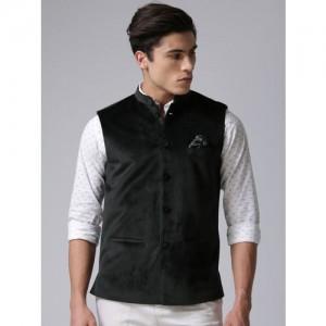 True Blue Black Nehru Jacket