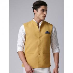 True Blue Mustard Yellow Nehru Jacket
