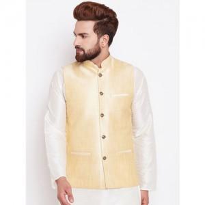 SOJANYA Gold-Toned Nehru Jacket