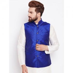 SOJANYA Blue Nehru Jacket