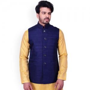 Manyavar Blue Nehru Jacket