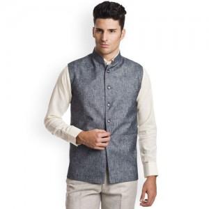 Wintage Men Grey Nehru Jacket